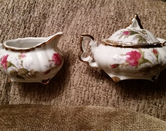 Napco China Cream and Sugar set