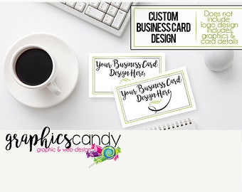Custom Business Card Design - Business Cards - Shop or Personal - Custom Made Set