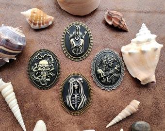Disturbing Gothic Skull Skeleton Cameo