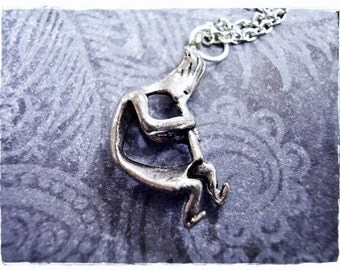 Silver Kokopelli Necklace - Antique Pewter Kokopelli Charm on a Delicate Silver Plated Cable Chain or Charm Only