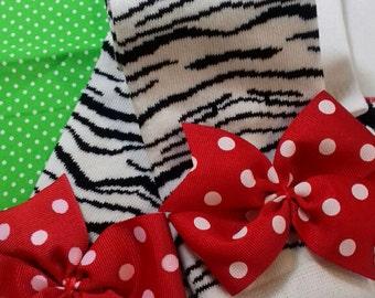 Zebra print, girl leg warmers with bows, baby, toddler, crawlers, leggings, birthday girl