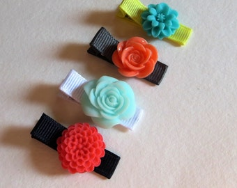 Set of Hair Clips, Baby Girl Hairbows, Baby Hair Clips, Hair Clips, Baby Hair Accessories, Infant Hair Bows, Toddler Hair Clips, Baby Clip