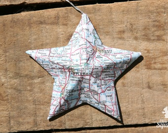 Appleton Green Bay Wisconsin Map Covered Star Ornament Wi Home Decor