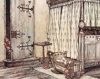 Almost Fairy Time,  Arthur Rackham, Vinatge Art Print