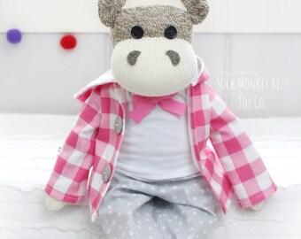 Kid's Toy, Child's Dressed Giraffe Plush Doll, Spring Plaid, Limited