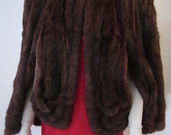1940s Joan Crawford Style Fur Cape