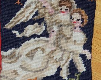 Needlepoint ANGEL Christmas Stocking