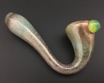 Sherlock Glass Pipe // Mini Hand Blown Color Changing Pipe // Slyme Marble