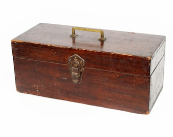 Antique Wood Toolbox