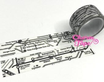 London Tube Map Washi Masking Tape (20mm x 5m) WT484
