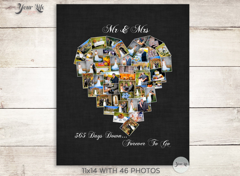 First Anniversary Gift Anniversary Photo Collage