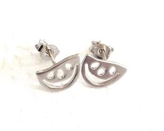 Watermelon earrings, stud watemelon earrings, watermelon birthday earrings, rhodium watermelon earrings,nature studs earrings,post earrings