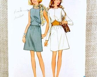 Vintage Pattern Butterick 5747 1960s Bust 32.5 sheath wiggle sweetheart midriff tucks V waistline