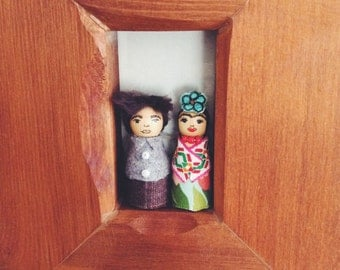 Diego and Frida pegdoll decor/ornaments