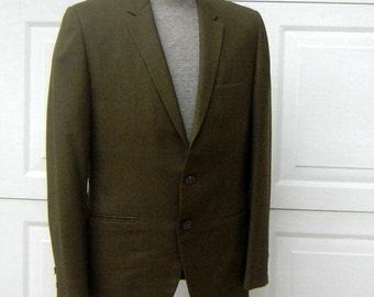 "Vintage 60s Sport Coat Blazer Roos Atkins EDW. HAWK Mens Size 38 / Chest 44"" Mint Condition CLEARANCE"