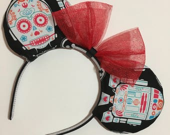 Star Wars Droid Sugar Skulls Mouse Ears with Bow - Mad Ears - IN STOCK