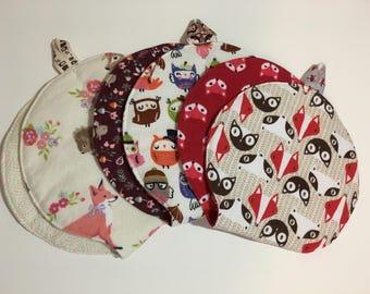 Woodland Baby Burp Cloths - Mad Burps - Single or Set of 3