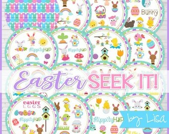 Easter SEEK IT Match Game, Easter Party Game, Easter Basket Gift Idea, Party Favor - Printable Instant Download by Lisa
