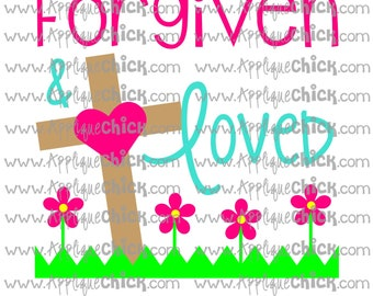 Forgiven and Loved SVG Clipart DXF