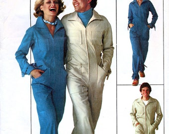 Simplicity 7620 Vintage 70s Sewing Pattern for Men's Jumpsuit - Size 44