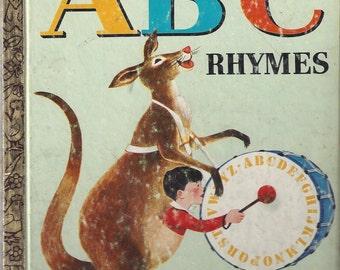 Vintage ABC Rhymes Little Golden Book Children's Book, C1964