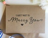 I Can't Wait To Marry You Card - Groom Gift From Bride - Groom To Bride Card - Bride To Groom Card - Wedding Cards - Rustic Wedding