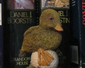 Duffy the Golf Course Duck - Small Tim Wolfe Sculpture  No. 9031 - Cairn Studio Retired Figure - Hand Signed to Donna