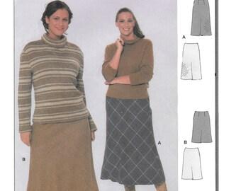 Burda 8747 Women's 90s Slightly Flared Skirt Sewing Pattern Hip 41 to 56
