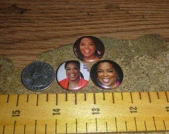 OPRAH WINFREY 3 one inch pin back buttons badge set