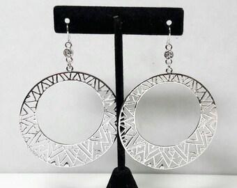 Vintage Silver Hoop Earrings