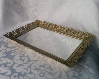 Mirrored Vanity Tray, Vanity Tray, Mirrored Tray