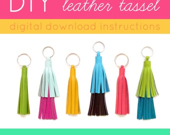 DIY Tassel Instructions | Make Your Own Tassel | Leather Tassel How To | Leather Tassel Key Chain | Tassel Purse Charm | Tassle Keychain