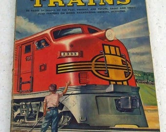 Vintage Golden Book of Trains A Golden Playbook Copyright 1953 Trains of Past Present and Future Railroading Model Railroading Layouts