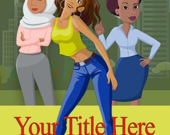 PRE-made book cover African American women