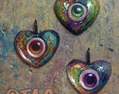 ORIGINAL OOAK Eye-Heart Pendant Necklaces by Tom Taggart