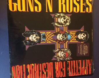 Guns N' Roses Appetite For Destruction GHS 24148 Vinyl Record 1987/Sticker