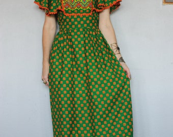 70s Hippie Folk Festival Dress