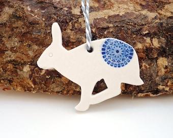 Oil diffuser ~ ceramic essential oil hare decoration, aromatherapy, home decor, handmade rabbit, air freshener, car fragrance, clay diffuser
