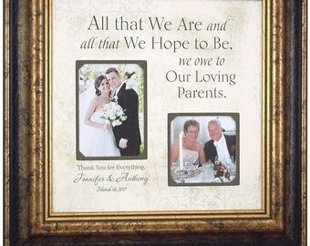 ALL THAT WE Are, Custom Burlap Wedding, Frame For Parents, Sign, Frame, Father of The Bride, Mother of The Bride, Reception Shower 16 X 16