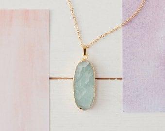 Blue Gemstone Pendant, Green Gemstone Pendant,  Druzy Necklace, Druzy Jewellery, Gemstone Jewellery, Electroplated Pendant, Blue Quartz