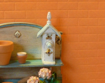 Vintage Birdhouse for Dollhouse Miniature