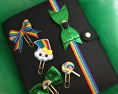 Luck O' the Irish Planner Clips or Band, Bible Bookmark, Planner Accessories, Textbook Bookmark, Office Supplies, Bookmark