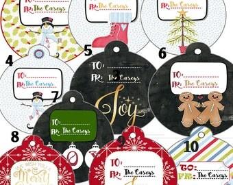 Personalized Christmas Tags, Christmas Tags, Assortment Christmas Tags, Holiday Tags, Gift Tags,Present Tags , Set of 20