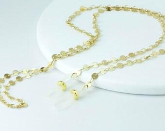 Modern Gold Eyeglass Chain, Designer Eyeglass Chain, Geometric Glasses Chains, Eyeglass holder necklace, Gold Lanyard, Luxury Eyeglass Chain