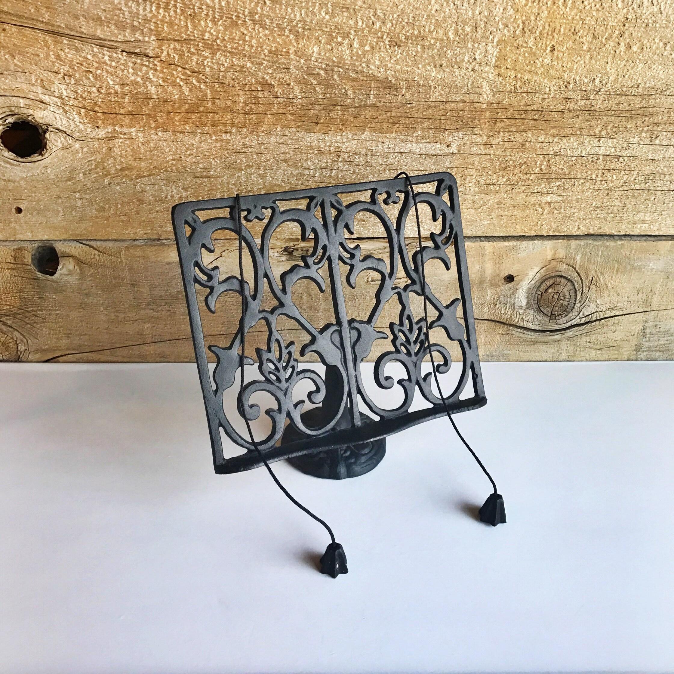 cast iron book holder sheet music holder recipe book stand