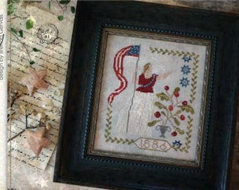 25% OFF SALE Lady Liberty Nashville Market 2017 With Thy Needle & Thread cross stitch pattern folk USA 4th of July patriotic