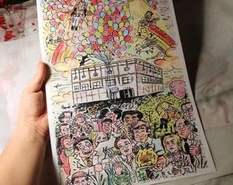 """Farewell Dunder Mifflin - 11x17"""" Art Print"""
