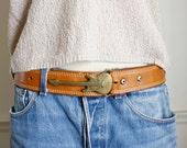 brass Stratocaster belt buckle