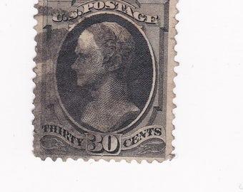 Thirty Cent Hamilton 1879 US Postage Stamp