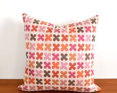"RESERVED for Jimmy, Set of 2 Quatrefoil by Alexander Girard Throw Pillows 16"" x 16"" Optional Insert"